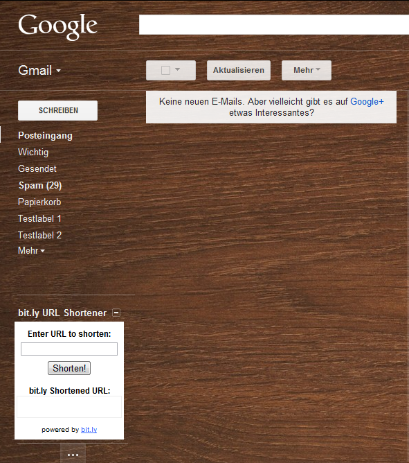 Bitly in Gmail