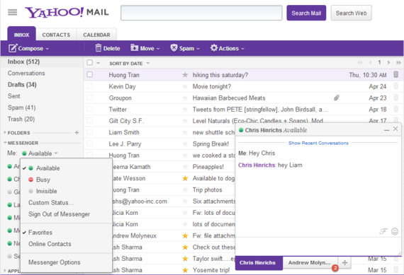 Yahoo Messenger in Mail