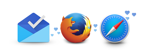 Inbox Firefox und Safari