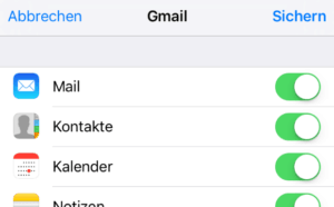 Gmail Synchronisation